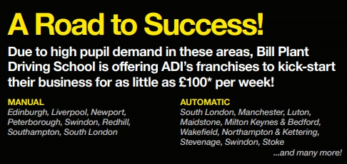 A road to successs - £100 ADI offer