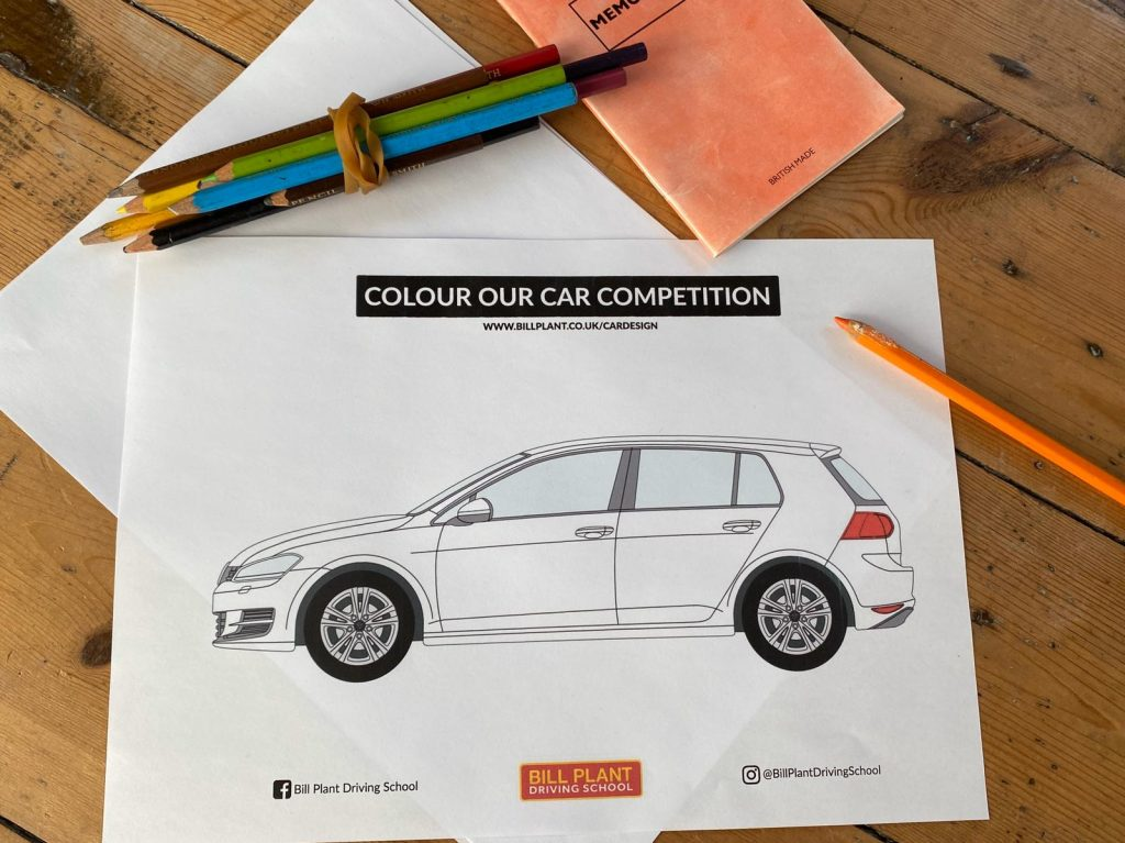 Colour our Car Competition - Bill Plant Driving School