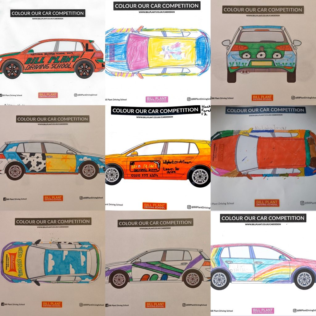 Colour our Car Competition Bill Plant Driving School
